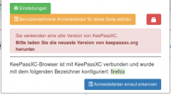 KeePassXC alte Version
